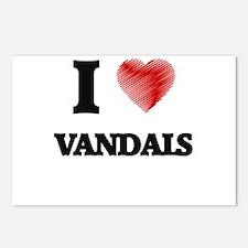 I love Vandals Postcards (Package of 8)