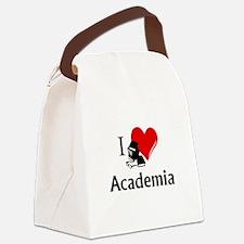 I Heart Academia Canvas Lunch Bag