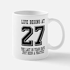 Life Begins At 27... 27th Birthday Mugs