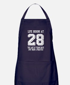 Life Begins At 28... 28th Birthday Apron (dark)