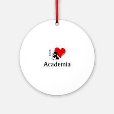 I Heart Academia Round Ornament