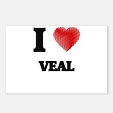 I love Veal Postcards (Package of 8)