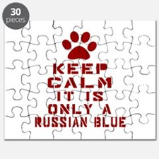 Keep Calm It Is Russian Blue Cat Puzzle