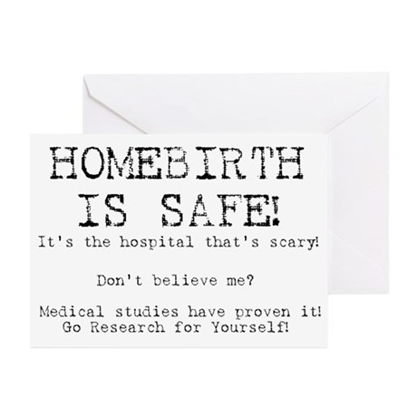 Homebirth is Safe Greeting Cards (Pk of 10)