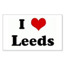 I Love Leeds Rectangle Decal