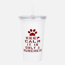 Keep Calm It Is Munchk Acrylic Double-wall Tumbler