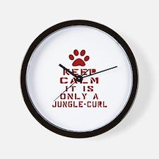 Keep Calm It Is Jungle-bob Cat Wall Clock