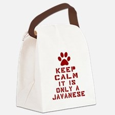 Keep Calm It Is Javanese Cat Canvas Lunch Bag