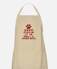 Keep Calm It Is Japanese Bobtail Cat Apron