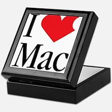 I Love Mac heart products Keepsake Box