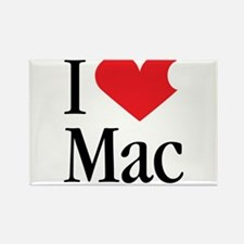 I Love Mac heart products Rectangle Magnet