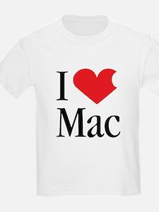 I Love Mac heart products T-Shirt