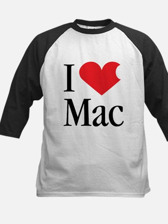 I Love Mac heart products Tee
