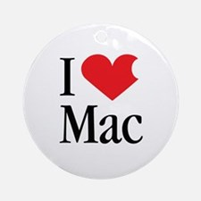 I Love Mac heart products Ornament (Round)