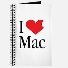 I Love Mac heart products Journal