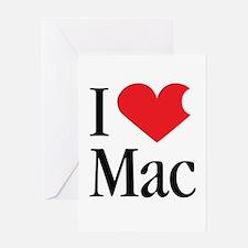 I Love Mac heart products Greeting Card