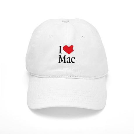 I Love Mac heart products Cap