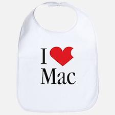 I Love Mac heart products Bib