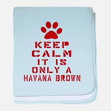 Keep Calm It Is Havana Brown Cat baby blanket
