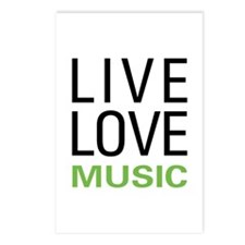 Live Love Music Postcards (Package of 8)