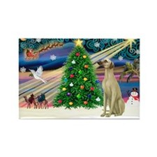 Xmas Magic & Sloughi Rectangle Magnet