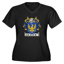 Dunne Coat of Arms Women's Plus Size V-Neck Dark T