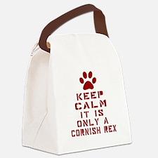 Keep Calm It Is Cornish Rex Cat Canvas Lunch Bag