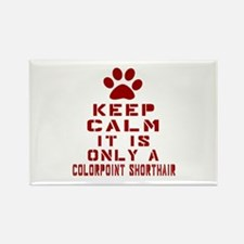 Keep Calm It Is Colorpoint Shorth Rectangle Magnet