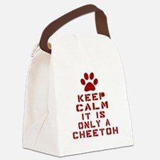 Keep Calm It Is Cheetoh Cat Canvas Lunch Bag