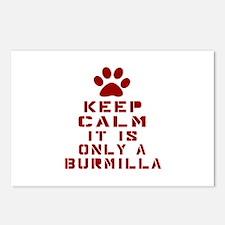 Keep Calm It Is Burmilla Postcards (Package of 8)