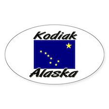 Kodiak Alaska Oval Decal