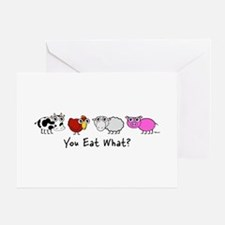 YOU EAT WHAT? Greeting Cards