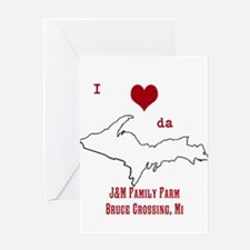 Yooper Love Greeting Cards