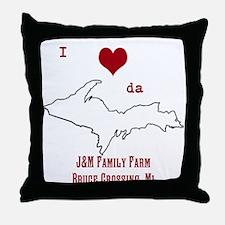 Yooper Love Throw Pillow