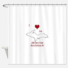 Yooper Love Shower Curtain
