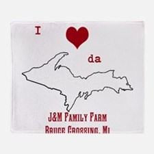 Yooper Love Throw Blanket