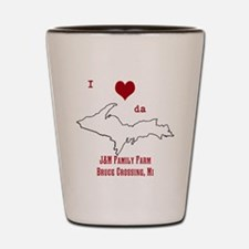 Yooper Love Shot Glass