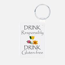 Drink Responsibly Gluten-Free Flowers Keychains