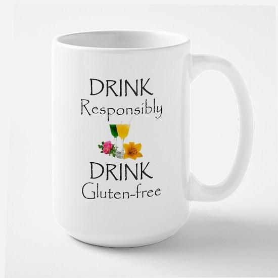 Drink Responsibly Gluten-Free Flowers Mug Mugs