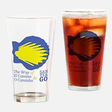Unique Camino de santiago Drinking Glass