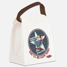 Mighty Mouse For President Canvas Lunch Bag