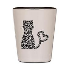 Pattern Cat Shot Glass