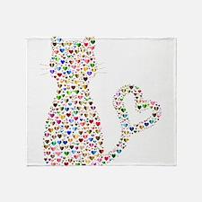 Pattern Cat Throw Blanket