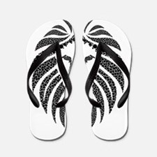 Tribal Lion Flip Flops