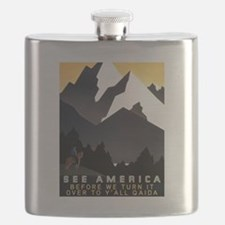 See America Before We Turn It Over To Y'all Flask