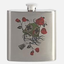 Unique War roses Flask