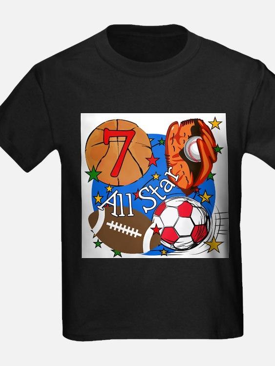 Sports 7th Birthday T-Shirt