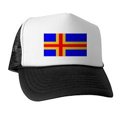 Aland Islands Blank Flag Trucker Hat