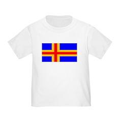 Aland Islands Blank Flag Toddler T-Shirt