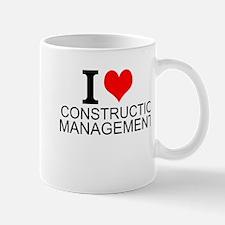 I Love Construction Management Mugs